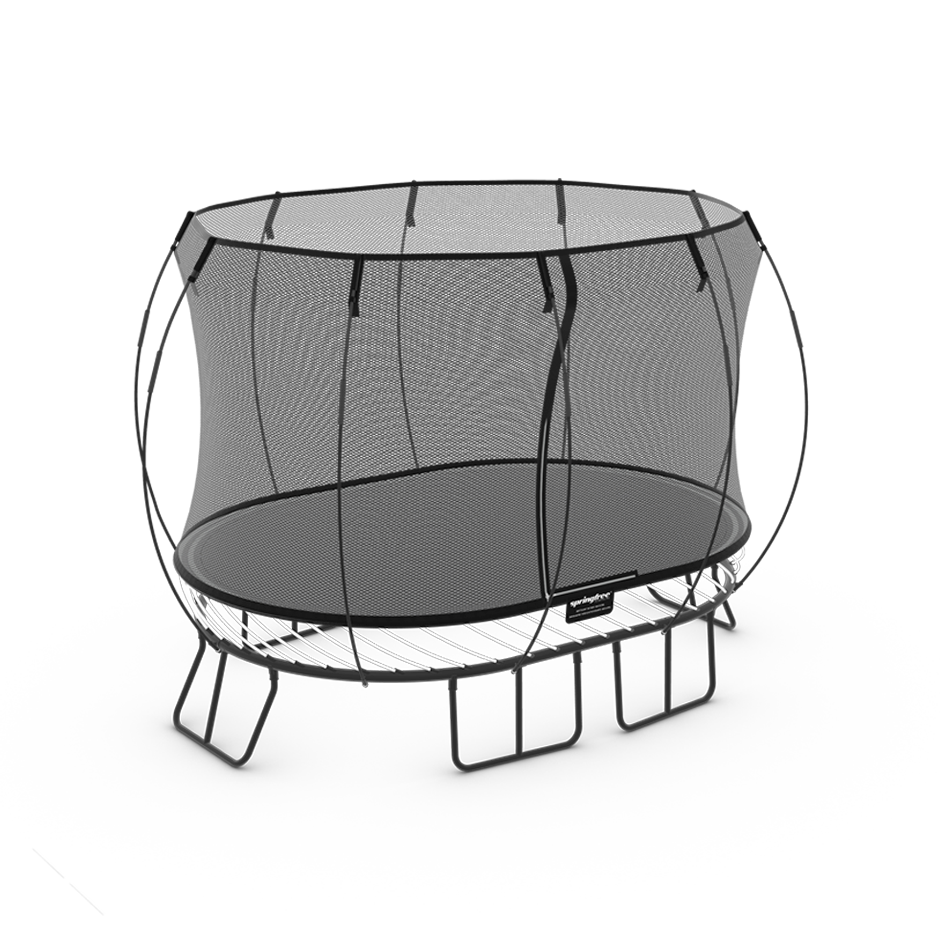 11ft Trampoline With Safety Net Enclosure